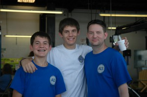 Nicholas & Justin (Dennis' grandsons) with son, Chris Sehorn