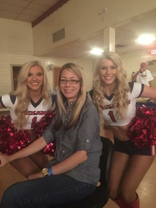 Christi, one of our pALS with the Texans Cheerleanders